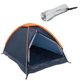 Barraca Camping Panda 6P Nautika + Mini Lanterna 9 LEDs à Pilha Blitz
