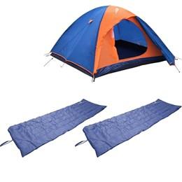 Barraca Camping Tipo Iglu Falcon até 3 Pessoas Nautika + 2 Colchonetes Camp Mat