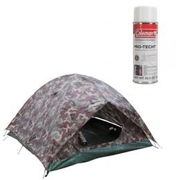 Barraca de Camping Camuflada Amazon 4 Pessoas Nautika + Impermeabilizante para Barraca Coleman