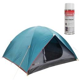Barraca de Camping Cherokee GT 5/6 Pessoas Nautika + Impermeabilizante de Tecido para Barraca Coleman