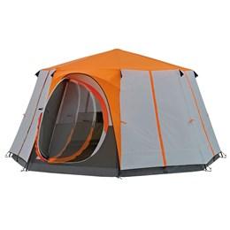 Barraca de Camping Coleman Octagon 8 Pessoas Cinza e Laranja