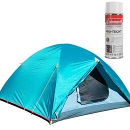 Barraca de Camping Colorado GT para 5/6 Pessoas Nautika + Impermeabilizante para Barracas Coleman