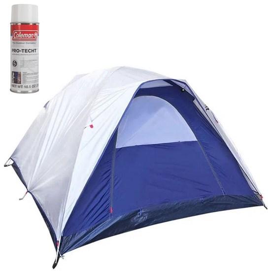 Barraca de Camping Dome 4 Pessoas Nautika + Impermeabilizante para Barracas Coleman