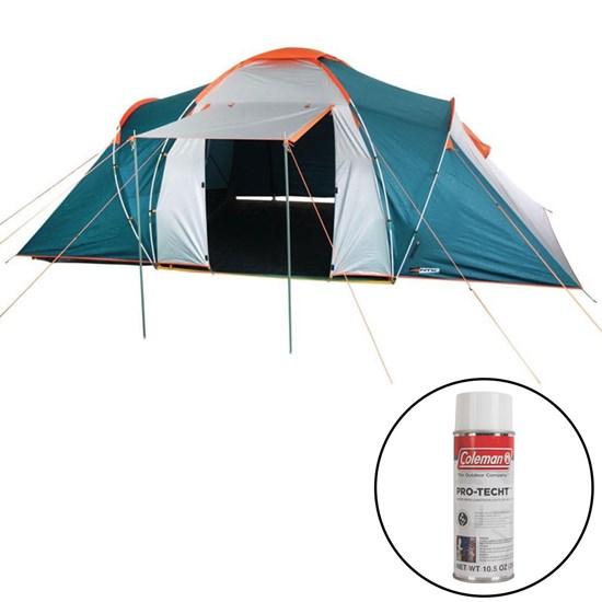 Barraca de Camping Explorer 6 Pessoas Nautika + Impermeabilizante para Tecido de Barraca Coleman