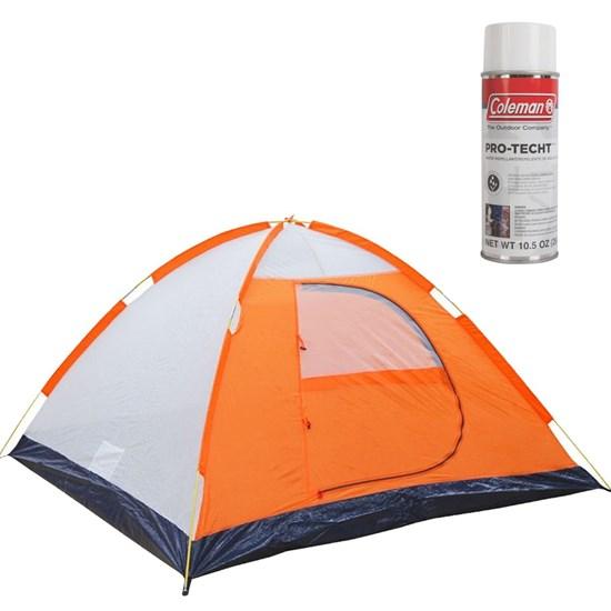 Barraca de Camping Falcon 2 Pessoas Nautika + Impermeabilizante de Tecido para Barraca Coleman