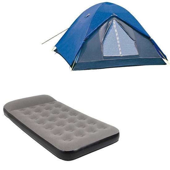 Barraca de Camping Iglu Fox 6 Pessoas + Colchão Inflável Solteiro Star Twin Nautika