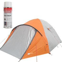 Barraca de Camping Katmandu 3 Pessoas Azteq + Impermeabilizante para Barracas Coleman