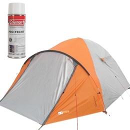 Barraca de Camping Katmandu 4 Pessoas Azteq + Impermeabilizante para Barracas Coleman