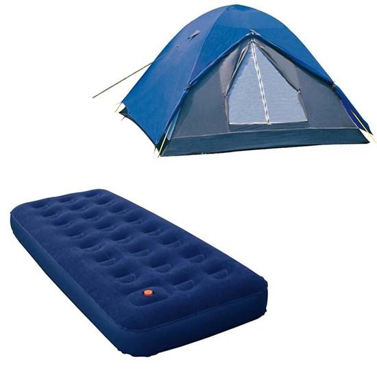 Barraca de Camping Nautika Fox até 3 Pessoas + Colchão Inflável Solteiro Zenite