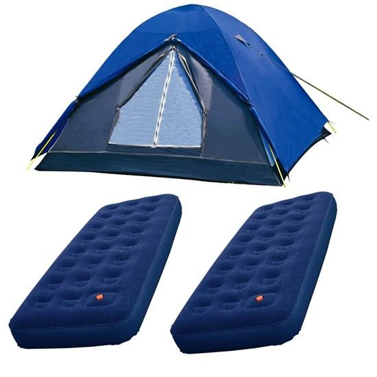 Barraca de Camping Nautika Fox até 7 Pessoas + 2 Colchões Infláveis Solteiro Zenite