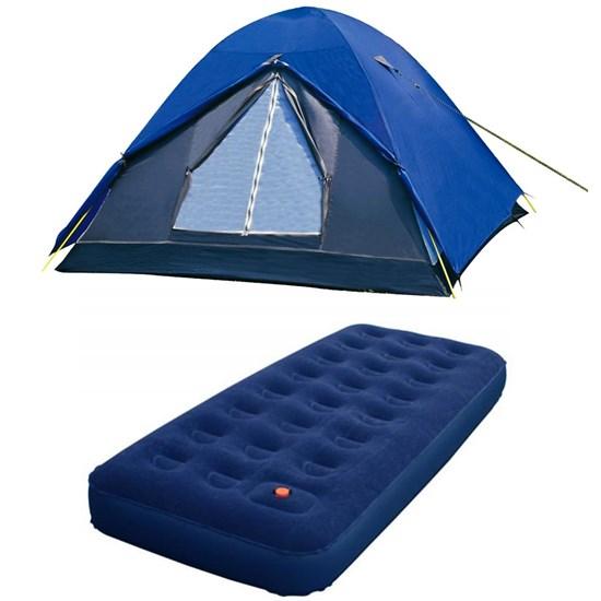 Barraca de Camping Nautika Fox para 7 Pessoas + Colchão Inflável Solteiro Zenite