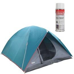 Barraca de Camping Tipo Iglu Cherokee GT para até 9 Pessoas + Impermeabilizante de Tecido para Barraca Coleman