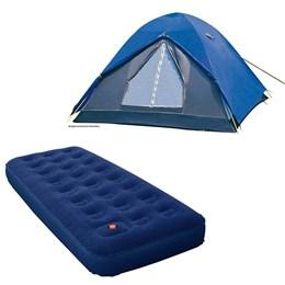 Barraca de Camping Tipo Iglu Fox para até 6 Pessoas + Colchão Inflável Zenite Solteiro Nautika