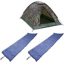 Barraca de Camping Tipo Iglu Kongo 3 Pessoas + 2 Colchonetes Camp Mat Nautika