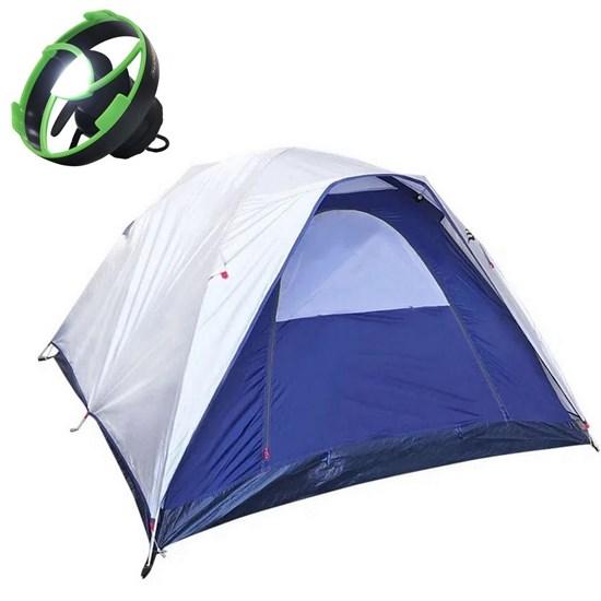 Barraca Dome 4 Pessoas + Mini Ventilador Recarregável para Barraca Nautika Vento