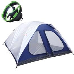 Barraca Dome 8 Pessoas + Mini Ventilador com LED para Barraca Nautika Vento