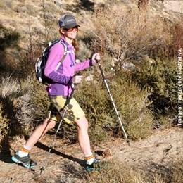 Bastão de Trekking Coleman com Pés Intercambiáveis e Pega Confortável