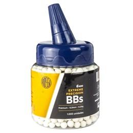 BBs Esferas de Plástico Airsoft Rossi 0.20g 6mm Branco 1000 Unidades