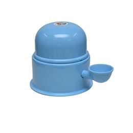 Bebedouro Semi-automático 1,4L Pet Raças Pequenas Vida Mansa Alumínio Azul Bebê