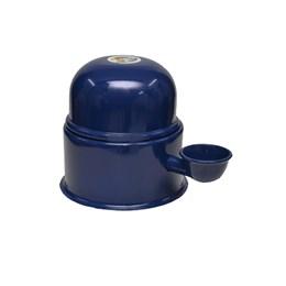 Bebedouro Semi-automático 1,4L Pet Raças Pequenas Vida Mansa Alumínio Azul Marinho