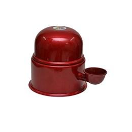 Bebedouro Semi-automático 1,4L Pet Raças Pequenas Vida Mansa Alumínio Vermelho
