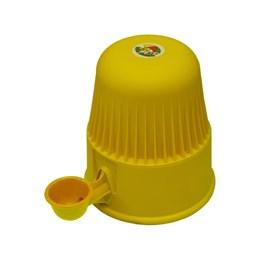 Bebedouro Semi-automático 2 L Pet Raças Pequenas Vida Mansa Polipropileno Amarelo