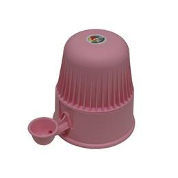 Bebedouro Semi-automático 2 L Pet Raças Pequenas Vida Mansa Polipropileno Rosa