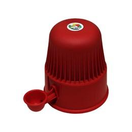 Bebedouro Semi-automático 2 L Pet Raças Pequenas Vida Mansa Polipropileno Vermelho