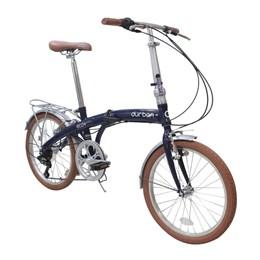 """Bicicleta Dobravel Aro 20"""" 6 Velocidades Shimano Quadro em Aço Durban Eco+ Azul"""