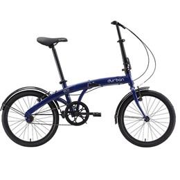 "Bicicleta Dobrável Aro 20"" e 1 Marcha Azul - Durban Eco"