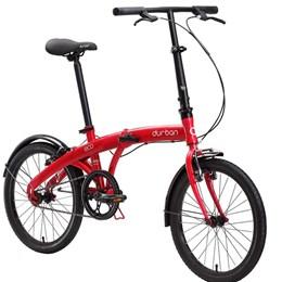 """Bicicleta Dobrável Aro 20"""" e 1 Marcha Vermelha - Durban Eco"""
