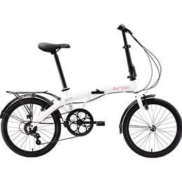 "Bicicleta Dobrável Aro 20"" e 6 Marchas Branca - Durban Eco+"