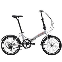 "Bicicleta Dobrável Aro 20"" e 6 Marchas Prata - Durban Rio"