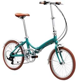 "Bicicleta Dobrável Aro 20"" e 6 Marchas Turquesa - Durban Rio"