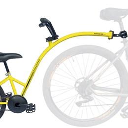 Bike Caroninha Quadro de Reboque Aro 20 Completo Amarelo
