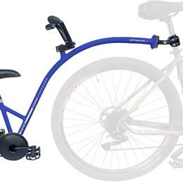 Bike Caroninha Quadro de Reboque Aro 20 Completo Azul