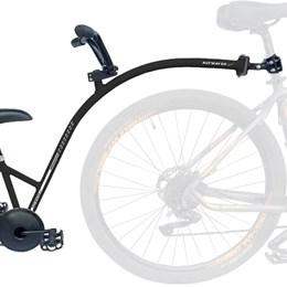 Bike Caroninha Quadro de Reboque Aro 20 Completo Preto