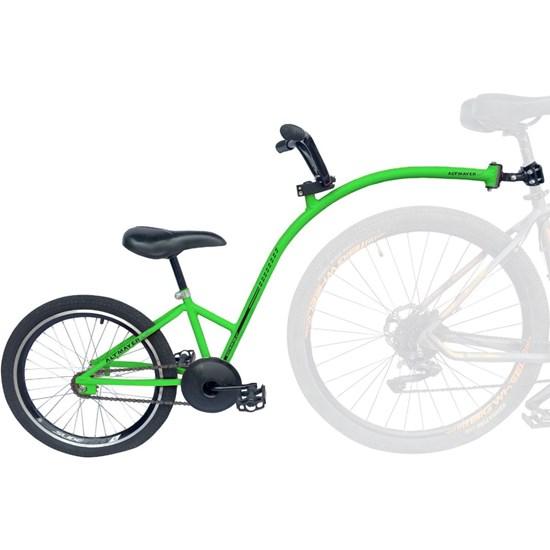 Bike Caroninha Quadro de Reboque Aro 20 Completo Verde