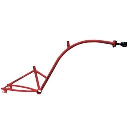 Bike Caroninha Quadro de Reboque Aro 20 Vermelho