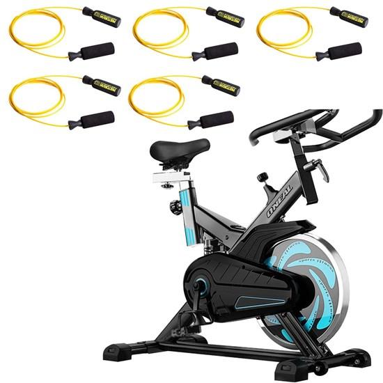 Bike Spinning ONeal TP1000 Semi Profissional + 5 Cordas de Pular Pretorian