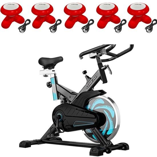 Bike Spinning ONeal TP1000 Semi Profissional + 5 Mini Massageadores Corporal Vermelho
