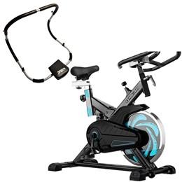 Bike Spinning ONeal TP1000 Semi Profissional + Aparelho Abdominal Dobrável Liveup