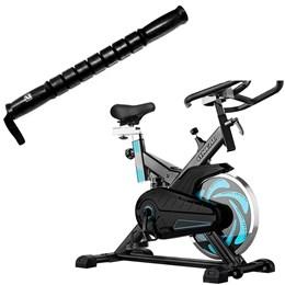 Bike Spinning ONeal TP1000 Semi Profissional + Bastão de Massagem LS5056