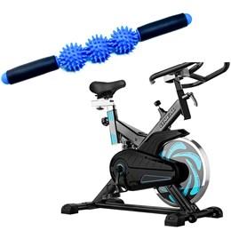 Bike Spinning ONeal TP1000 Semi Profissional + Bastão de Massagem Miofascial Espinho Liveup