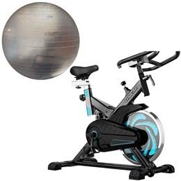 Bike Spinning ONeal TP1000 Semi Profissional + Bola Suíça Transparente 65 cm Liveup