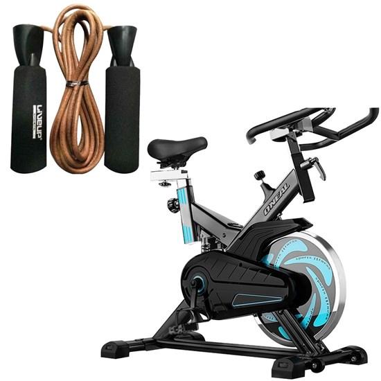 Bike Spinning ONeal TP1000 Semi Profissional + Corda de Pular Couro LIVEUP LS3120