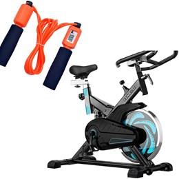 Bike Spinning ONeal TP1000 Semi Profissional + Corda de Pular Liveup LS3119