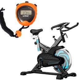Bike Spinning ONeal TP1000 Semi Profissional + Cronômetro Liveup LS3193