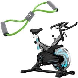 Bike Spinning ONeal TP1000 Semi Profissional + Elástico Extensor em Oito Liveup Tensão Média
