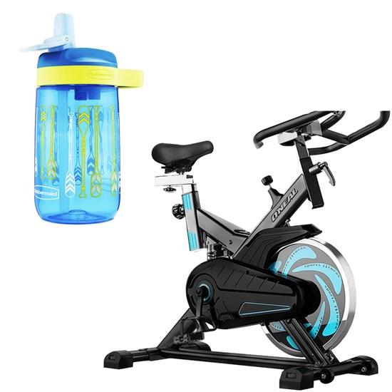 Bike Spinning ONeal TP1000 Semi Profissional + Garrafa Infantil Azul